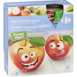 Compotes pomme s/sucres...