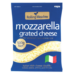Mozzarella grated cheese...