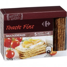 Toasts fins multicéréales 100g