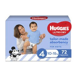 Huggies Ultra Dry taille 4...