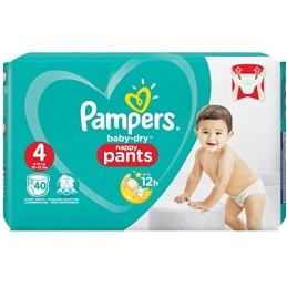 40 COUCHES CULOTTE PAMPERS...