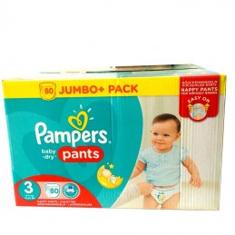 80 COUCHES CULOTTE PAMPERS...