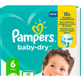 33 Couches Pampers Baby-dry...