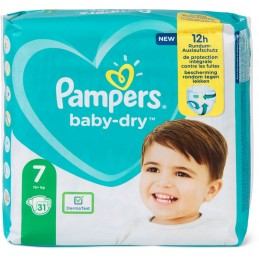31 Couches Pampers Baby-dry...