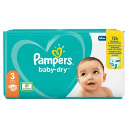 52 couches Pampers baby-dry...