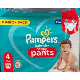 74 COUCHES CULOTTE PAMPERS...
