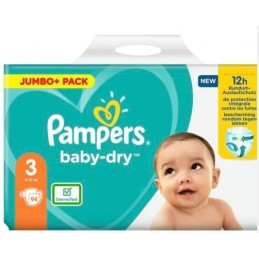 94 couches Pampers baby-dry...