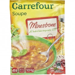 Soupe Minestrone Carrefour...