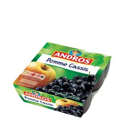 Pomme Cassis Andros 4x100g