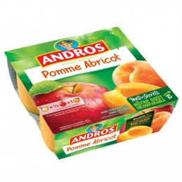Pomme Abricot Andros 4x100g