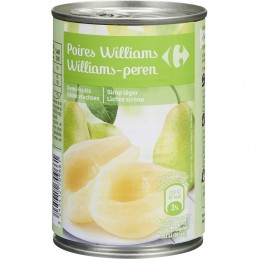 Fruits au sirop poires...