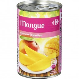 Fruits au sirop mangue en...